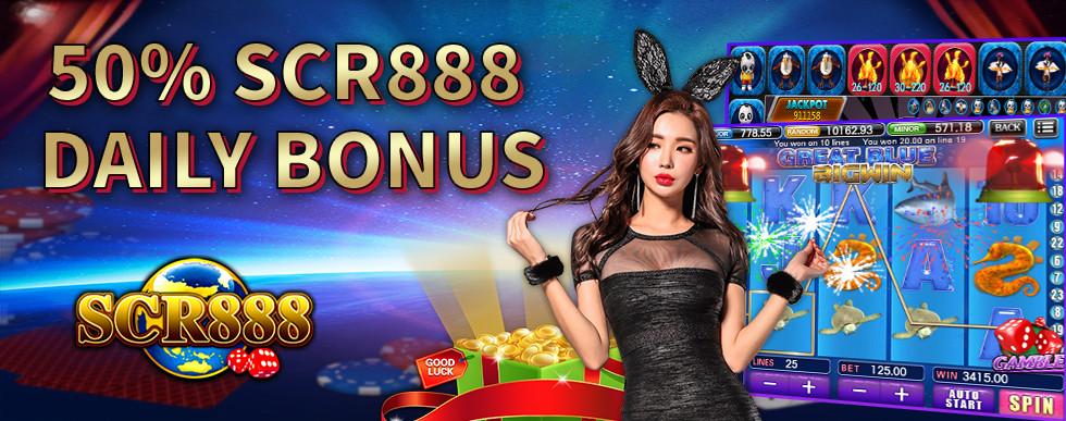 50% SCR888 Deposit Bonus