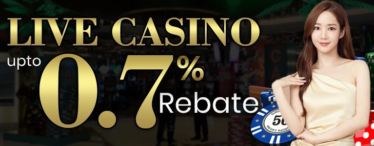 0.7% Live Casino Cash Rebate