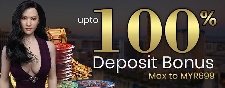 Up to 100% Deposit Bonus
