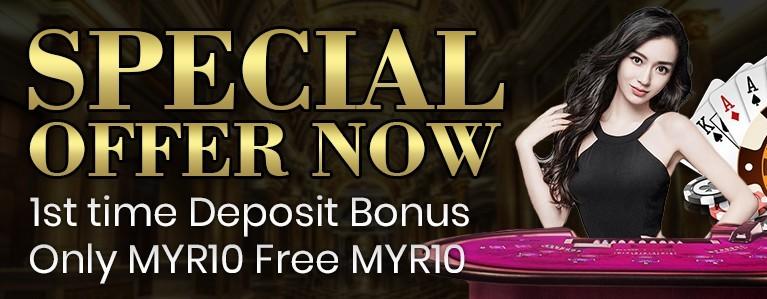 DEPOSIT BONUS MYR10 FREE - NEW MEMBER ONLY.