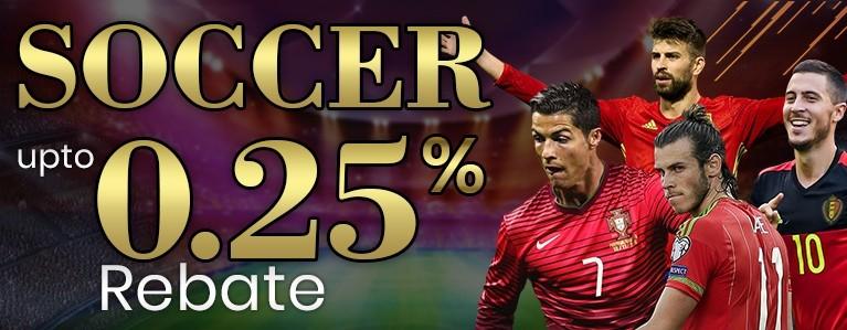 0.25% Soccer Cash Rebate