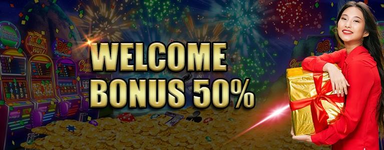 新会员奖金 50%