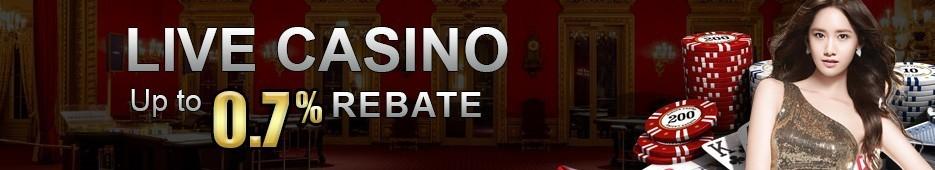 0.7% Live Casino Cash Rebate