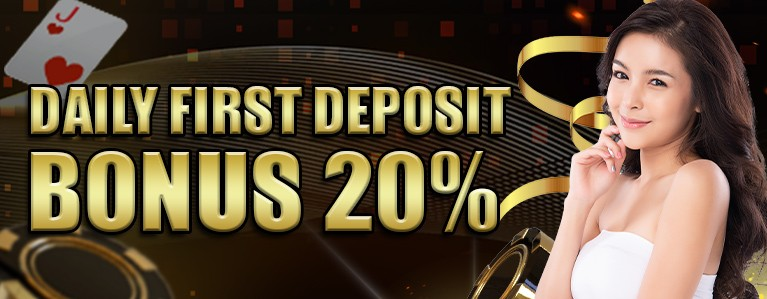 每日第一次存款红利20%