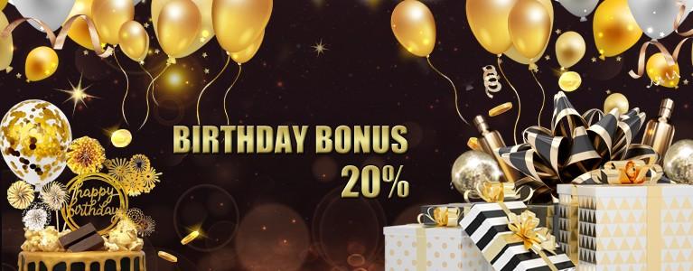 生日礼物 20%